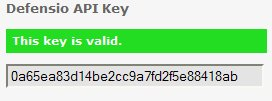 Defensio API key OK