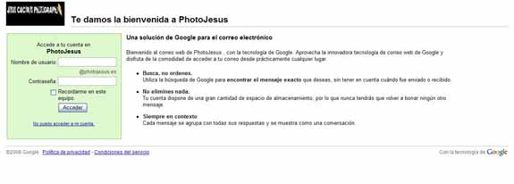 PhotoJesus Gmail