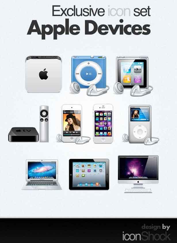 iconos exclusivos para dispositivos Apple