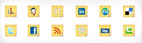 Iconos gratis de Redes Sociales, notas post-it