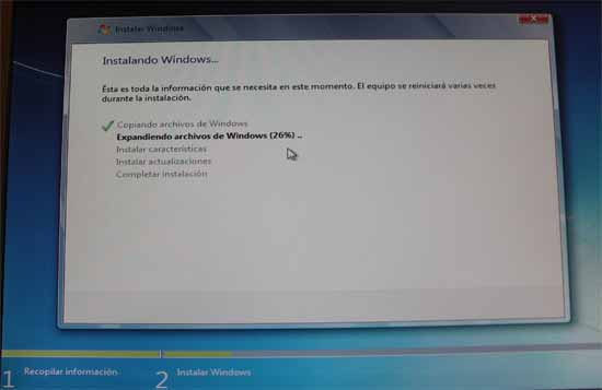 Instalando windows 7