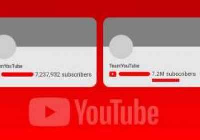 El cambio del contador de suscriptores de Youtube provoca su propio drama