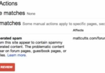 Visor de Acción Manual: Nueva herramienta en Google Webmasters