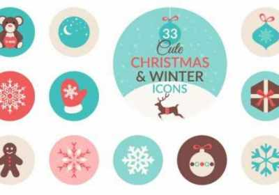 Conjunto de iconos de Navidad gratis