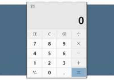Cómo mantener la calculadora siempre visible en Windows 10