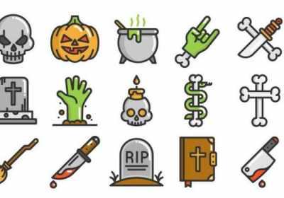 Descarga gratis divertidos y aterradores iconos vectoriales para Halloween